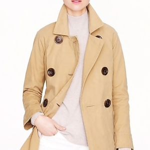 J.Crew Tan Peacoat Trench with Lining